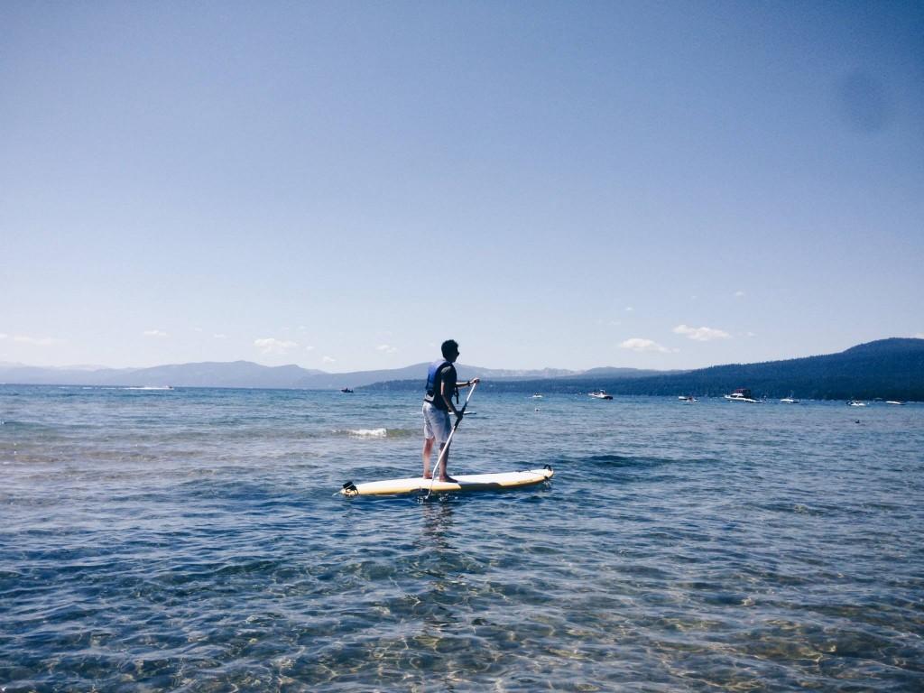 Paddling Lake Tahoe